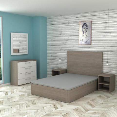 Dormitorio nogal S - Rio mobiliario