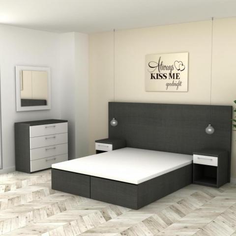 Dormitorio zapatero roble S - Rio mobiliario